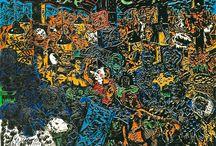Jorg Immendorff / Jorg Immendorff : Peintre allemand néo-expressioniste.
