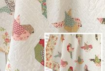 Feathers. Pieced bird quilt