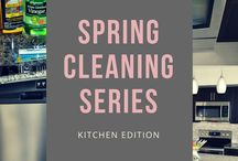 Home Organization + Cleaning / Cleaning and organizing tips and tricks for the kitchen and everywhere else in your home.
