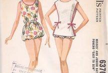 Vintage Patterns: Swim and Lingerie / Vintage sewing patterns for swimwear and lingerie / by Cosmo Martinelli