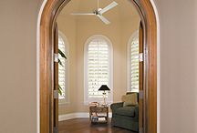 AWF | Arched Plantation Shutters / Arched shutters are the only true way to properly treat arched or specialty shaped windows. Since all our shutters are custom built to the exact measurements of your windows, you get a perfect fit and total control of your light and privacy through your arched windows. austinwindowfashions.com