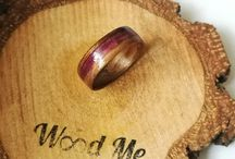 woodme.com.pl / I create wooden rings with stones/ shells/ resin/ metals Bentwood method