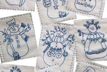 Embroidered snowman machine