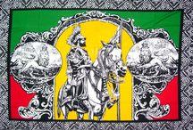 Sarongs pareos rasta reggae jamaica / Sarongs rasta reggae jamaica bob marley, leaf, Haile Selassie... Rayon 100% 185cm x 115 cm
