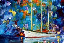 pintura espatula