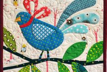 Quilts with birds