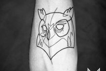 Unique Linear Tattoos Ideas
