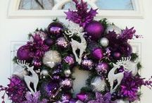 Christmas inspiration white and purple