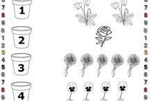 φύλλα εργασίας για τα φθινοπωρινά λουλούδια