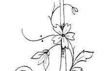 letra J flores