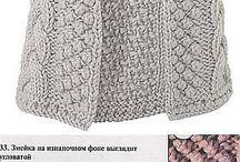 Knit vest half cardigan