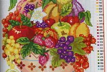 Cross stitch fruits and vegies