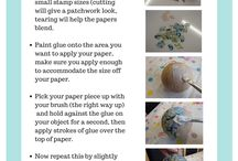 DIY & Crafts: mod podge / I have recently discovered Mod Podge and now I want to decoupage ALL the things!