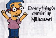 simpsons cross stitch