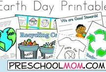 Earth Day Projects and Theme / Learning about Earth Day, nature, God's creation, printables, arbor day, recycling and more.
