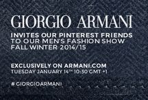 Giorgio Armani Fall / Winter 2014 Menswear / by ARMANI