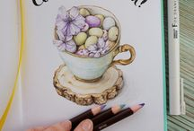 My art / цветные карандаши маркеры рисунок графика