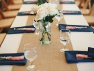 Navy styled shoot - table setting