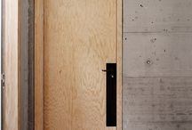 Plywood doors