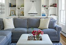 Blue couch