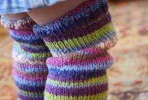 Knitting baby little children