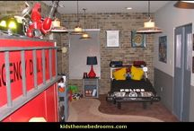 Bug's Bedroom / Police/ firefighter theme....he's obsessed!