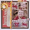 Scrapbooking: Five photos / Layouts featuring five