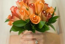 oranges and russets wedding flowers