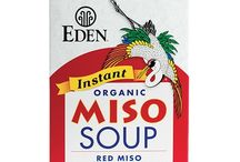 Eden Miso / Eden Miso's are made using organically grown soybeans and a traditional koji fermentation process handed down by miso masters through generations. Healthful bacteria and enzymes break down the carbohydrates and proteins into easily assimilable sugars and amino acids, beneficial digestive enzymes, vitamins and minerals. Such high quality miso is five times higher in protective isoflavones than other soy foods.