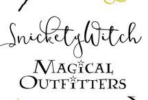 Snickety Witch Outfitters / A magic-themed Etsy store selling everything from robes to wands!  Get your magical gear today: https://www.etsy.com/shop/snicketywitch