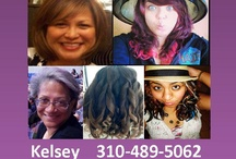 Kelsey's Mobile Hair Salon Southern CA / Hair, Salon, Beauty, Hair Dying, Hair Cuts, Perms, Weaves, Extensions, Color