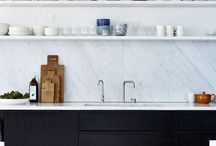 Fabulous Modern Kitchens / I love a kitchen that doesn't look like a kitchen... natural materials, open shelves, metallics, it should feel like part of the living space.