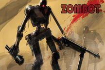 "Tribute to ""The Walking Dead"" tv show / Zombie robots = Zombots"