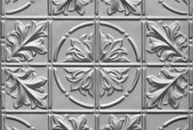Various pressed metal designs / This board will give you an idea about how varied the designs are.  Basically there is a design for every taste and project whether it be residential or commercial.