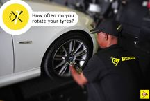 Tyre Rotation / It only takes a couple of moves to keep those tyres turning sweetly. Check out why Dunlop says tyre rotation is a good thing!