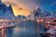 norway winter night