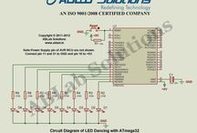 AVR ATmega32 Microcontroller Circuit Diagrams / ABLab Solutions helps beginners, professionals and hobbyists in learning upcoming new technologies by providing them tutorials, circuit diagrams, codes, header files, softwares and etc. / by ABLab Solutions