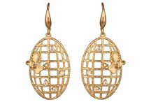 Gold Plated Silver Jewelry / Stylish and Elegant Gold Plated Silver Jewelry - Handcrafted