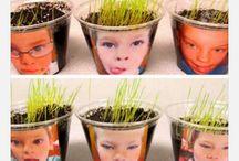 DIY Barn plantera / Kids planting crafts