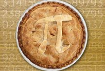 Pi Day celebrations / March 14 (3/14) is Pi Day. Celebrate with circe-themed activities or pie!