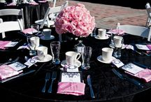 Pink and Black Weddings in Detroit / This theme is fun but classic.  It provides a wide variety of options that you can choose from even with just two colors.  It will truly make you feel girly and #beautiful on your %wedding day.  But remember the saying goes, real men wear pink, right? http://www.yourethebride.com 248-408-4602 #wedding #yourethebride #pink #black