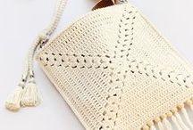 crochet bags, purses & clutches