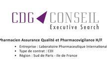 Offres d'emploi - Postes à pourvoir / CDG Conseil est un cabinet de recrutement dédié au monde de la Santé : Cosmétique & Dermo-cosmetique, Industrie pharmaceutique & Biotechnologique, Matériel Médical, Médico-Social & Sanitaire.