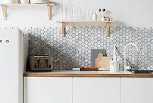 Fliser / Fliser over kjøkkenbenken