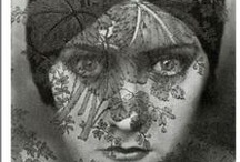 Ladies / Pictures of women, women's faces, collage, painting, mixed media, prints.