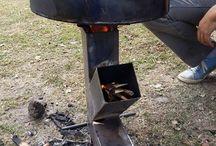 Fuegos creativos / Mostrar todas las variantes posibles para cocinar o calefaccionar la casa o el exterior
