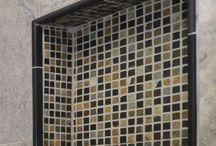 Tile Designs by DF Design, Inc. / Kitchen and bathroom tile designs selected for specific Design Plans by Dennis Frankowski, Interior Designer for DF Design, Inc.