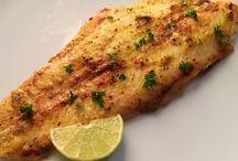 Baked fish fillet