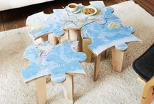 Jigsaw Puzzle Home Ideas / I've found some pretty cool products that incorporate jigsaw puzzles.