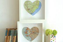 DIY Weltkarten